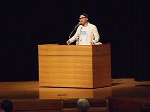 骨髄移植を受けた久保田ガズ誠さんの講演