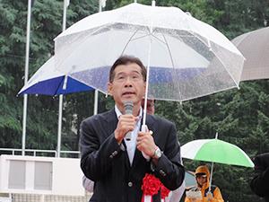 札幌陸上競技協会の品出会長