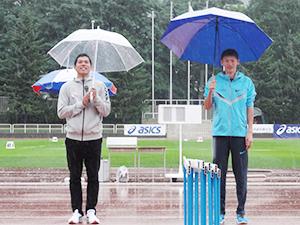 金丸選手(左)と高平選手