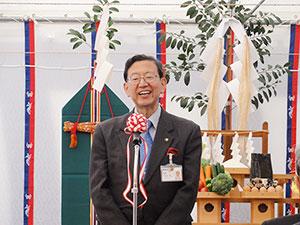 「多くのすばらしい医療人材を」と述べる竹内鳥取市長