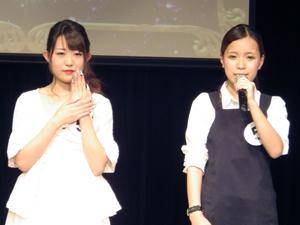 プレゼンテーションをする最優秀賞の澤田さんとモデルさん