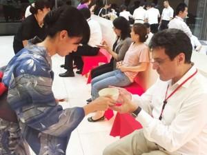 日本の文化、お点前を体験